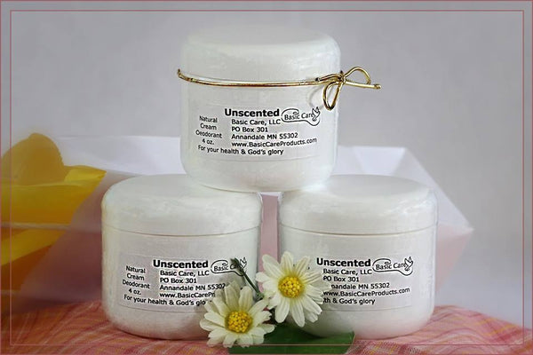 Unscented Natural Cream Deodorant