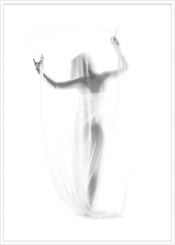 Beautiful photo art of a woman wrapped in sheets. Poster