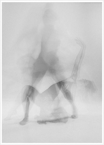Photo of a dancer shoot in studio. Dance poster