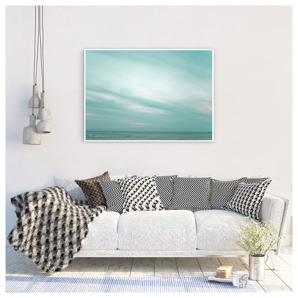 Pastel colored sky. Poster sky