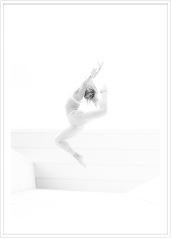 Dancer on the opera roof in Oslo. Dance poster