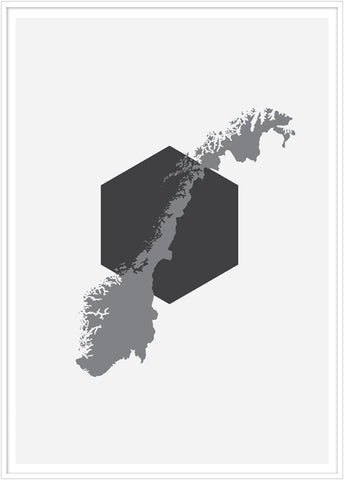Norway poster. Illustration