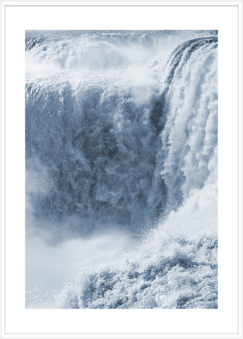 Photo of the waterfall Iguazu Falls. Poster waterfall