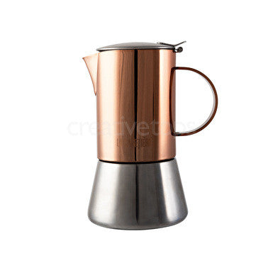 La Cafetière 6 cup Stainless Steel Copper Stovetop