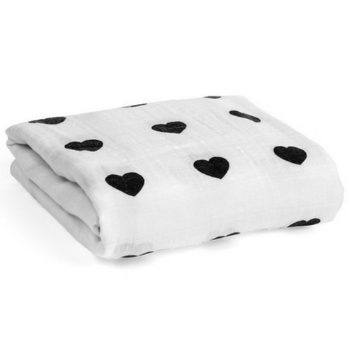 Hearts Swaddle Blanket