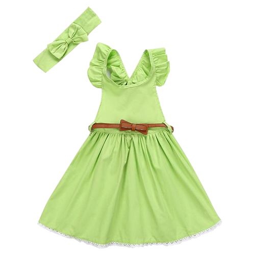 2pcs Ruffle Party Dress Set