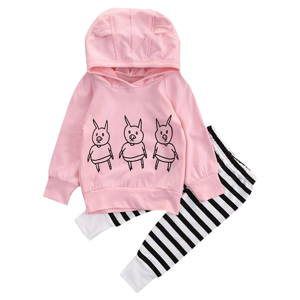3 Piglets Clothing Set