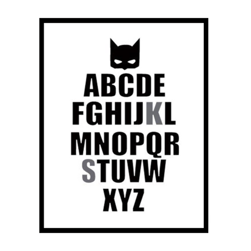 ABC Batman Wall Print