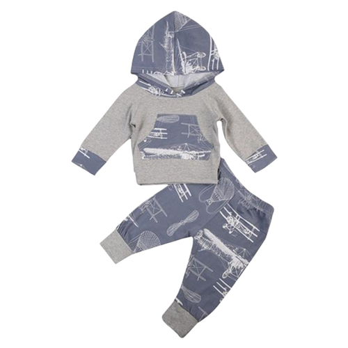 Airplane Hooded Clothing Set