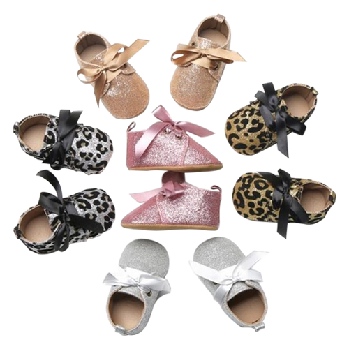 Baby Girl Sparkle Bow Shoes