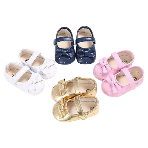 Baby Heart Bowknot Shoes
