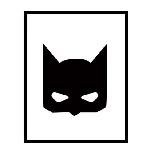 Batman Mask Wall Print