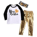 Big Sister Gold Clothing Set