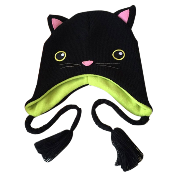 Black Cat Knitted Hat