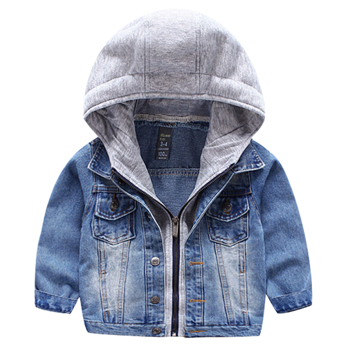 Boys Denim Hooded Jacket