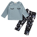 Closed Eyes Splattered Clothing Set
