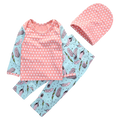 Feather 3pcs Clothing Set