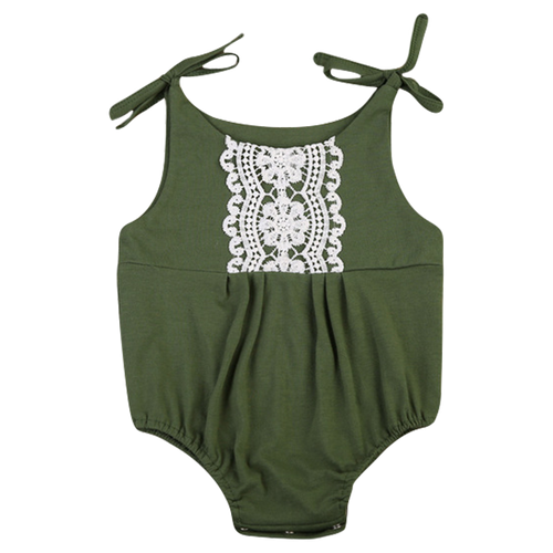 Green Laced Playsuit