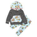 Floral Striped Clothing Set
