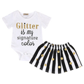 Glitter Is My Signature Color Clothing Set