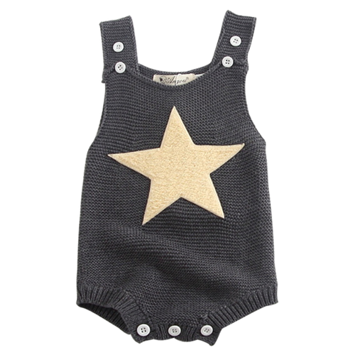 Heart & Star Knitted Playsuit