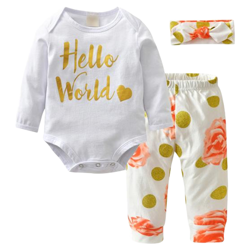 Hello World Golden Bodysuit Set