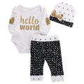 Hello World 3 pcs Clothing Set