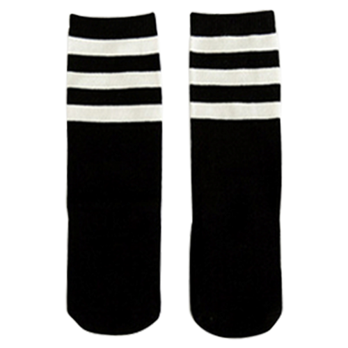 Black Stripes Knee High Socks