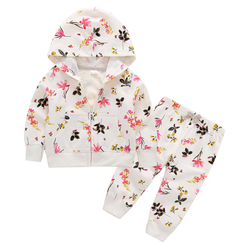 Lillie Floral Hooded Clothing Set - Pandicorn