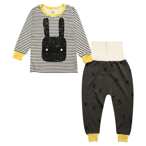 Little Bunny Striped Clothing Set