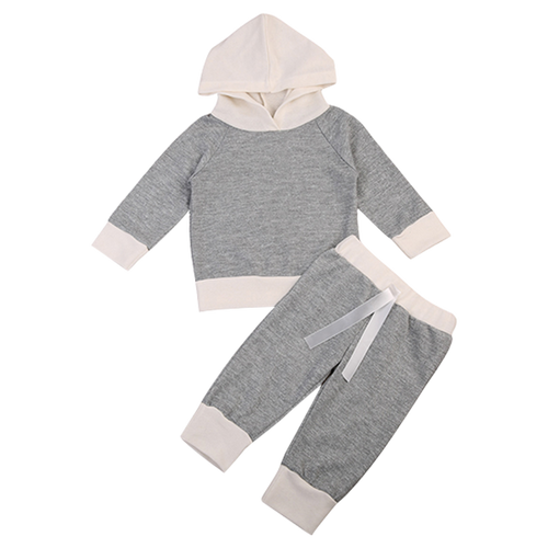 Little Gray Hooded Clothing Set