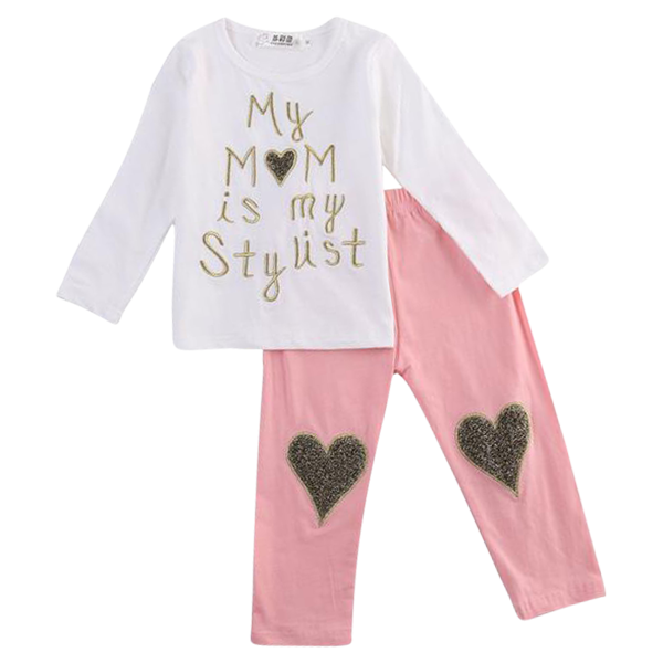 My Mom Is My Stylist Heart Clothing Set