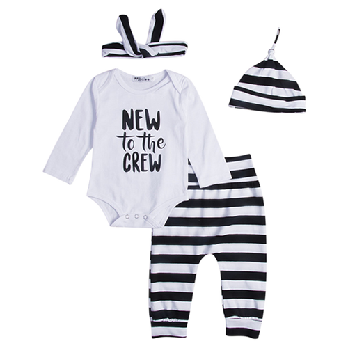 New To The Crew 4pcs Clothing Set