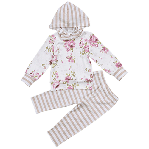 Noa Floral Hooded Clothing Set