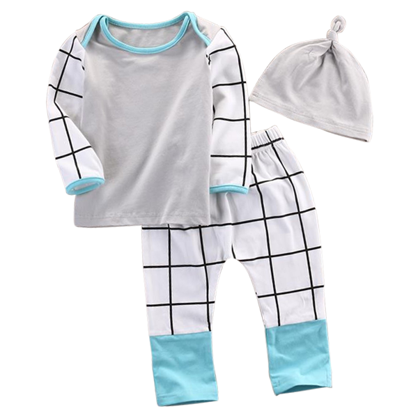 Plaid 3pcs Clothing Set
