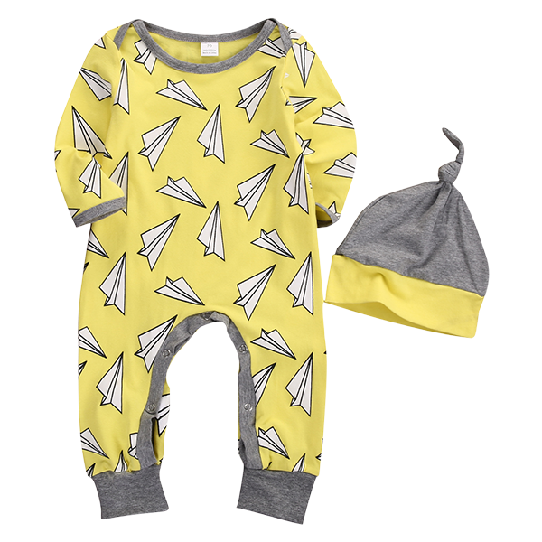 Plane Yello Romper