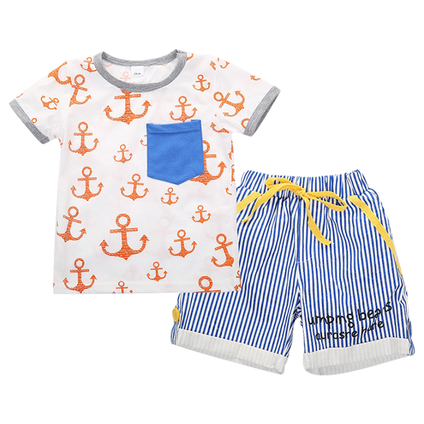 Summer Striped Clothing Set