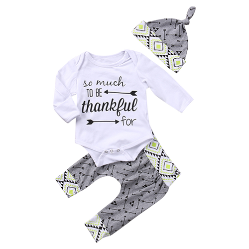 Thankful 3pcs Bodysuit Set