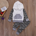 Patterned Hoodie Clothing Set