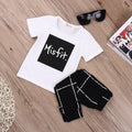 MisFit Black& White Clothing Set