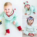Cute Ears Hoodies Clothing Set