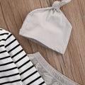 Beige Striped Clothing Set
