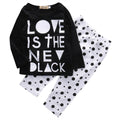 Love Is The New Black Clothing Set