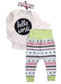 Hello World Pattern Clothing Set