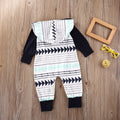 Geometric Hooded Romper