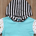 Light Blue Hooded Clothing Set