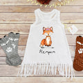 Fox Print Mini Dress
