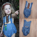 Backless Denim Romper