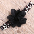 Black Leopard Bow Clothing Set