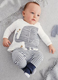 Elephant Striped Clothing Set